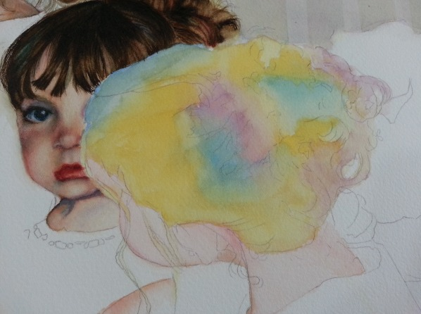 How To Paint Dark Hair In Watercolor The Art Of Susan