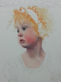 How To Paint Red Hair In Watercolor The Art Of Susan